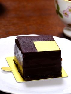 Chocolate cake  by PIERRE HERME , sweet, tasty and beautiful