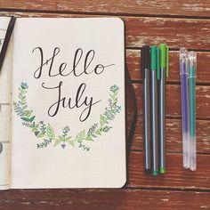 cute July page idea