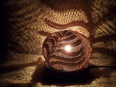 Carved white (young) coconut lamp : €70 . Visit our online shop with the link below (Lampe en noix de coco blanche,visitez notre boutique en cliquant le lien suivant:)
