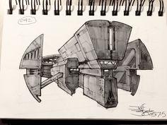 ArtStation - SpaceshipADay 042, Jeff Zugale