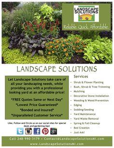 Landscaping Flyer & Ads Design | Design Inspiration | Pinterest ...