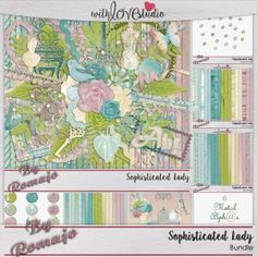 Sophisticated Lady, digital scrapbooking bundle from Designs by Romajo, perfect for documenting your everyday life on your scrappy layouts.