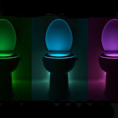 Motion Activated Toilet Night Light:www.Thisthatshop.com