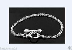 10pcs Silver Lobster Ring Clasp Bracelets Fit European Charm Beads 16-23cm