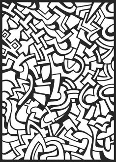 Visual Chaos Stained Glass Coloring Book, Dover Publications 05