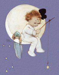 Baby Girl on Moon