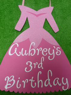 Sleeping Beauty Birthday Sign.