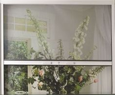 aluminum insect screen roll up curtain on