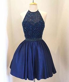 Still looking for your royal blue beaded short prom/homecoming dress! Here in Flosluna, you can find long/short prom dress,halter prom dress,short mini beaded homecoming dresses! 8th Grade Prom Dresses, Dark Blue Prom Dresses, Homecoming Dresses 2017, Grad Dresses Short, Royal Blue Dresses, Short Prom, 8th Grade Graduation Dresses, Dama Dresses, Hoco Dresses