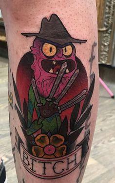 Best 40 Rick and Morty Fan Tattoos Fan Tattoo, Tattoo You, Ricks Tattoo, Daniel Tattoo, Rick And Morty Tattoo, Tattoo Ideas, Tattoo Designs, Cartoon Tattoos, Music Station