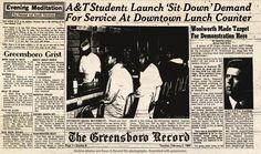 Greensboro Sit-Ins | The Greensboro Sit In - Free Lesson for Fourth Grade