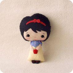~ Felt Doll Ideas ~ Snow White ~