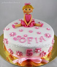 Torta ballerina in pasta di zucchero ballet dancer cake sugar paste