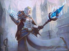 Jaina Proudmoore FanArt by Leonardo Santanna Freelance illustrator/ Concept Artist Character Poses, Character Modeling, Character Portraits, Character Art, Character Design, Character Outfits, Warcraft 3, World Of Warcraft, Wow Mage