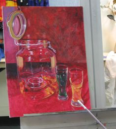 Oil painting in progress from our Beginning & Intermediate Oil Painting class with Dough Gillette