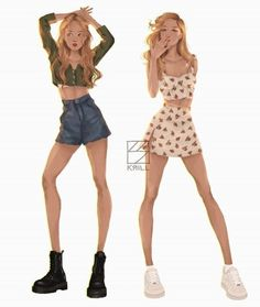 Casual outfits for the modern witch Casual outfits for the moder. Fashion Illustration Sketches, Illustration Mode, Fashion Sketches, Aesthetic Art, Aesthetic Clothes, Summer Aesthetic, Sketch Style, Clothing Sketches, Cute Art Styles