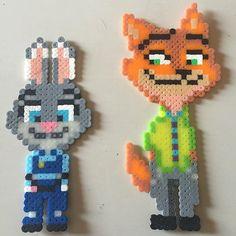Judy and Nick - Zootopia hama beads by hamabeadsarte - Pattern: https://de.pinterest.com/pin/374291419012854327/