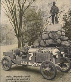 Lexington driver Otto Loesche in his 1920 Pike's Peak Hill...