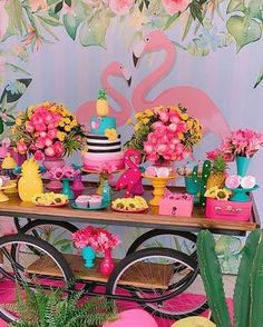 13th Birthday Parties, Luau Birthday, Aloha Party, Luau Party, Flamenco Party, Flamingo Decor, Flamingo Birthday, Festa Party, Tropical Party