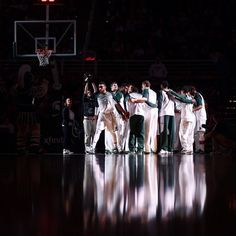 @delrioimages #MSU men's basketball starting line prior to the game against The Citadel #gogreen #delrioimages