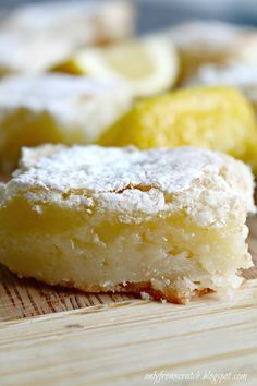 Only From Scratch: Paula Deen's Lemon Bars. Gotta do something with the leftover lemon pulp from making limoncello...