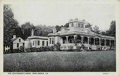 New iberia, la | Details about New Iberia Louisiana LA 1925 Joe Jefferson's Mansion ...