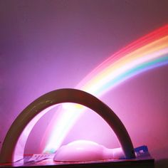 Novel Bridge Design Projector Projection Lamp Lucky Rainbow Colorful Light