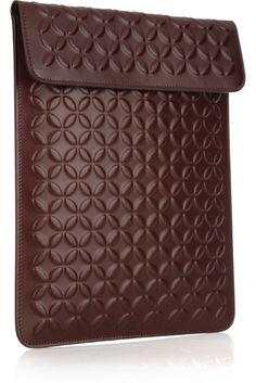 Alaïa Embossed Leather iPad Case