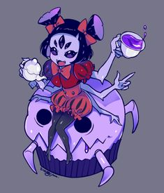 Muffet Undertale, Undertale Fanart, Undertale Comic, Spider Dance, Spider Art, Game Character, Character Design, Animated Spider, Chibi