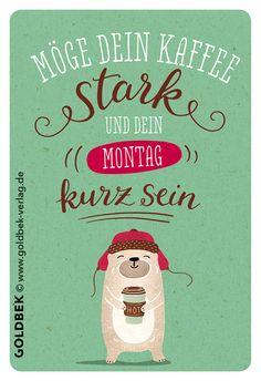 Postkarten - Kaffee. Handgezeichnet. Immer wieder Montags ...