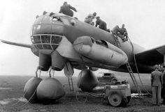 xenophone:  maximum dieselpunk: Junkers 287 prototype jet bomber