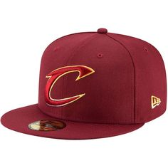 Cleveland Cavaliers New Era Logo Grade 59FIFTY Structured Hat - Wine 0fe25e8d531