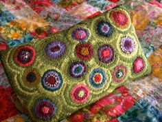 gorgeous   Handmade Wool Pillow. $145.00, via Etsy.