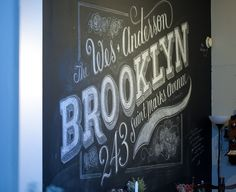 My kitchen wall by Dana Tanamachi  #brooklyn #chalk #parkeretc