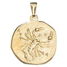Anhänger Sternzeichen Skorpion 333 Gold Gelbgold