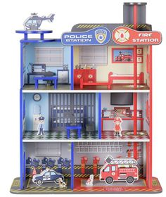 Buy Chad Valley Wood Shed Fire & Police Station at Argos.co.uk - Your Online Shop for Action figures and playsets, Vehicles and playsets.