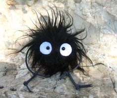 Spirited Away Totoro plush doll keychain Soot Sprite by cuteart
