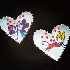 #handmade #cookies #love #donald #daizy #mickey #minnie #duck #mouse #sweet #food䐑̆