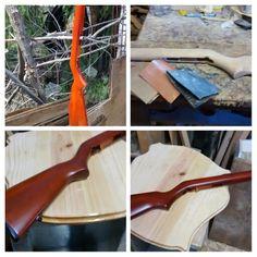Cambiando color a cacha de rifle 22