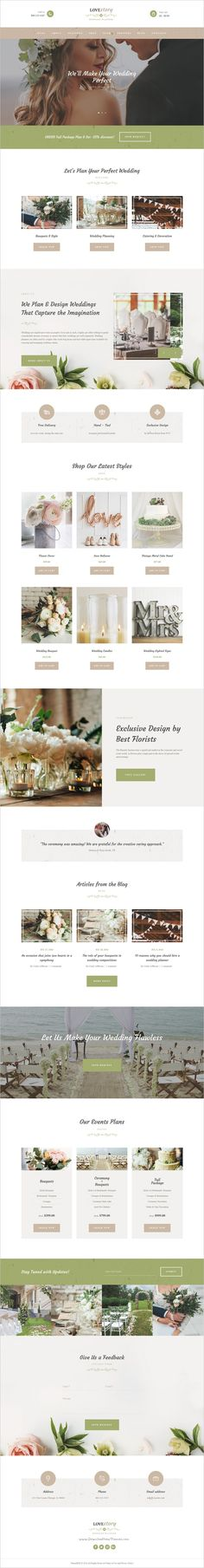 Love Story is an elegant #WordPress theme for #wedding #planning agency, an individual wedding or any event planning company website with a fashionable and tender look download now➩ https://themeforest.net/item/love-story-wedding-and-event-planner/18010473?ref=Datasata