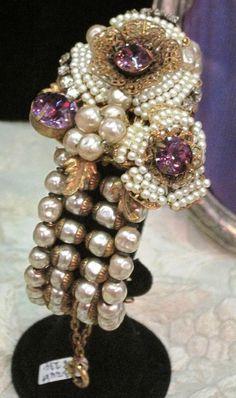 Miriam Haskell pearl wrap bracelet