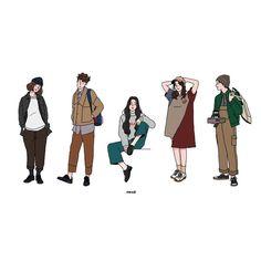 사진 설명이 없습니다. Simple Illustration, Character Illustration, Cute Couple Art, Cute Couples, Girl Cartoon, Cartoon Art, Anime Cupples, Drawings Of Friends, Sketch Design