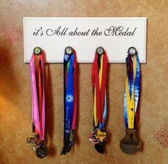 Marathon, Half Marathon Running Medal Display Plaque - it's All about the Medal