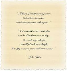 Why Keats is one of my favorite poets!