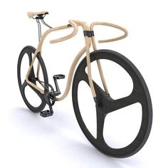 thekhooll:    Thonet Bike  London-based architect Andy Martin was asked to design a concept bike made of bent wood.