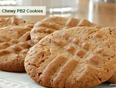 Perfectly Clean PB2 Peanut Butter Cookies. Im going to try this recipe with Stevia and oat flour instead of sugar and wheat flour. Being able to stick to my clean eating plan AND eat peanut butter cookies? I think, YES!