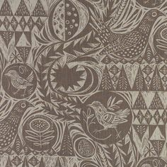 Bird Garden fabric in Charcoal. This would be great on our mid century chair.