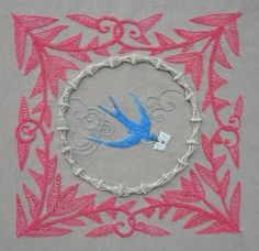 Bluebird Embroidery (stitchery) Design (sent As PDF File)