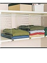 chrome shelf dividers closet shelf organizer solutions