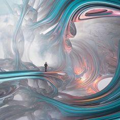 The Dreamlike Worlds in Evgenij Soloviev's Surreal Photography Fractal Art, Fractals, Fractal Design, Fantasy Kunst, Fantasy Art, Graphic Design Print, Graphic Art, Surrealism Photography, Fantasy Landscape